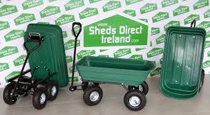 75l heavy duty garden tipp cart