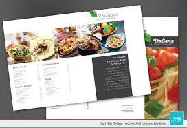Restaurant Brochure Template Tri Fold Brochure Template For Italian Restaurant Order Cus On The 1