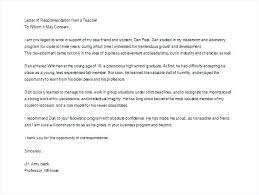 Academic Letter Of Recommendation Template Andrewhaslen Co