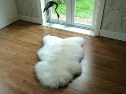 white costco sheepskin rug