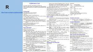 Project Status Sheet Mesmerizing R HttpcranrprojectorgdoccontribShortrefcardpdf