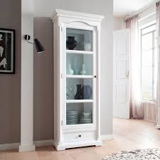 provence white glass door cabinet