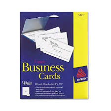 avery business cards 5371 amazon com avery laser 2 x 3 1 2 inch white business cards 250