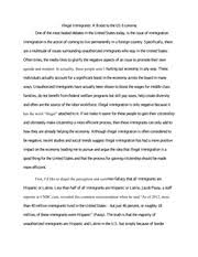 "rhetorical analysis essay ""born in the u s a "" by kevin clarke  7 pages argumentative essay illegal immigration"