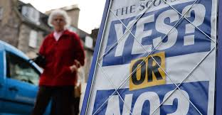 photo essay streets of scotland before the big vote a newspaper stand displays a yes or no advertisement referring to the scottish referendum polls