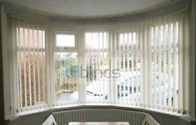 CURVED VERTICAL BLINDS BAY  BOW WINDOW HEADRAIL MADE TO MEASURE Bay Window Vertical Blinds