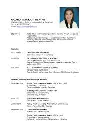 Educational Background Resume Sample Juphil Lamanilaocity Add