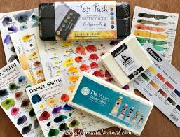 Daniel Smith Watercolor Dot Chart Watercolor Samples Dots Sample Sets Scratchmade Journal