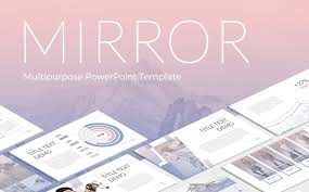 Mirror Powerpoint Template 63984
