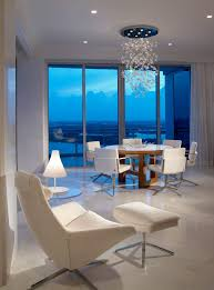 miami bubble light chandelier dining room contemporary with view chrome chandeliers high ceiling