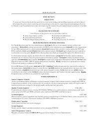 It Security Resume Cyber Manager Examples Specialist Objective