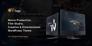 Wordpress Movie Theme Ftage Movie Production Film Studio Creative