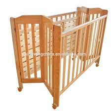 solid wood baby furniture. Foldable Solid Wooden Baby Crib With Castor Natural Pine Cot Wood Furniture O