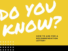 Tips For Asking For A Letter Of Recommendation Tips On Asking For A Recommendation Letter The Unstandardized Standard
