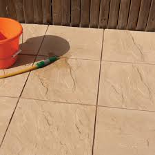Buff Peak Riven Paving Slab (L)600 (W)600mm Pack of 20 | Departments | DIY  at B&Q