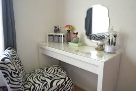 bedroom simple white makeup table gl top with unusual wall mount mirror pattern and zebras vanity stool in white master bedroom for momen decor idea
