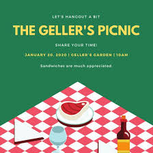 Green And Red Vector Picnic Invitation - Templates By Canva