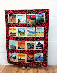 Canada 150 Quilt Canadian Lap Quilt by QuiltyPleasuresCraft | O ... & Discover Canada - Cityscapes - Quilt Kit Adamdwight.com