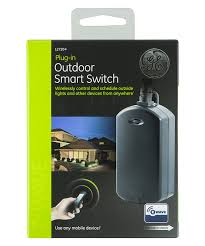 ge z wave wireless smart lighting control outdoor module on off plug in black works with alexa 12720 plug in dimmer switches com