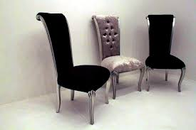 elegant black velvet dining chairs intended for inviting