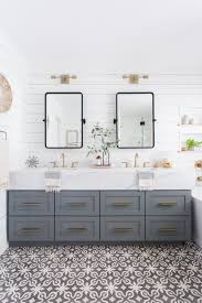 light airy bathroom with shiplap