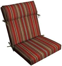 outdoor patio replacement cushions stripe high back chair cushion for sectional garden