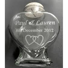 glass heart shaped bottle size m