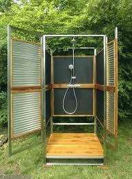 outdoor shower enclosure plans building ideas pvc stall