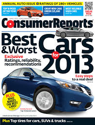 new car releases 2013Consumer Reports releases 2013 Annual Auto Issue  Top Picks