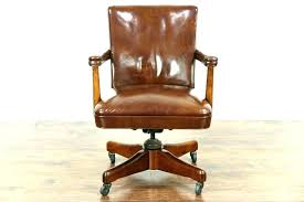 leather antique wood office chair leather antique. Antique Leather Desk Chair Inspiring Articles With Retro Wood Office