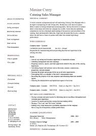 Sales Manager Resume Catering Sales Manager Resume Regional Sales