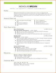 Formal Resume Format Bio Resume Samples