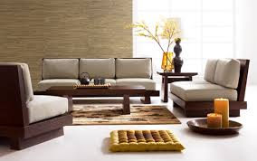Contemporary Living Room Interior Design With Brown Wooden Of