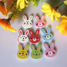 Rabbit Decorative Accessories Best Lovely Cartoon Rabbit Good Wooden Buttons Diy Manual 80