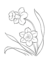 Flower Coloring Pages Printables Spring Flower Coloring Pages Kids