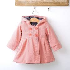 baby girl pea coat cute girls winter warm wool blends snowsuit jacket outerwear cotton clothes pink