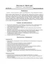 Cover Letter Carpentry Resume Template Formwork Carpenter Resume