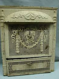 antique late 1800 s cast iron ornate gas fireplace insert e