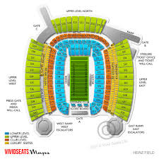 Heinz Field Virtual Seating Chart Heinz Field Seating Section 522 Related Keywords