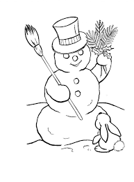 Free Printable Snowmanoring Pages For Kids Family Frosty The To
