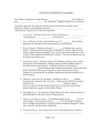 A subtenant who fails to pay the rent to the tenant may leave the tenant holding. Free California Rental Lease Agreement Forms Pdf Docx