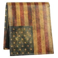 american flag mens leather wallet