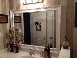 wood bathroom mirror digihome weathered: artistic white framed bathroom mirrors from mahogany wood frame