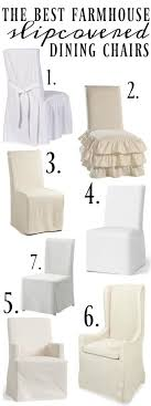farmhouse style slipcover dining chairs more