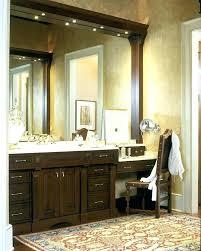 Bathroom vanity ideas makeup station Built Double Vanity With Makeup Station Double Vanity With Makeup Station Bathroom Double Vanity With Makeup Station Delawareonlineinfo Double Vanity With Makeup Station Cool Design Double Vanity With