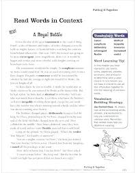 Word Study Worksheet Vocabulary Words In Context Worksheets Word Study Worksheet