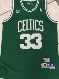 Boston Celtics 33 Larry Bird Hardwood Classics Sewn Jersey