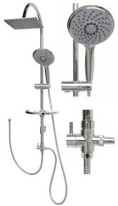 Duschset Dusche Duschsystem Duschstange Regendusche Variabele Halter Mp120 24x19
