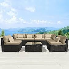 Amazoncom  Modenzi 7GU Outdoor Sectional Patio Furniture Outdoor Patio Furniture Sectionals