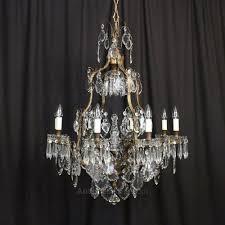 french bronze crystal 9 light chandelier